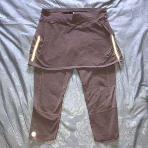 EUC, Athleta crops with skirt (one piece)